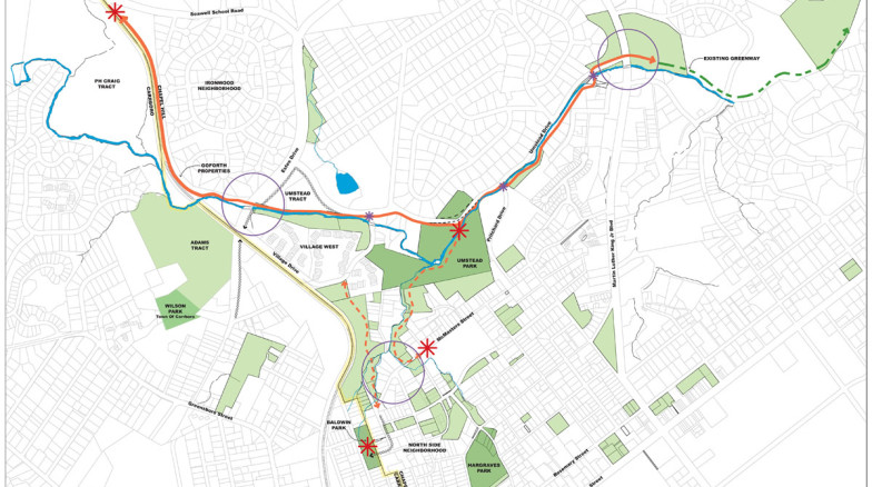 Surface 678 - Chapel Hill Greenways Master Plan